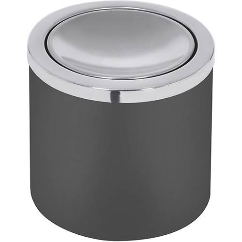 Lixeira Aço Inox Útil Basculante Preta 5 Litros - Tramontina