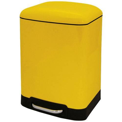 Lixeira Aço Retro Vintage Week Modern 6 Litros Pedal Cozinha Amarela