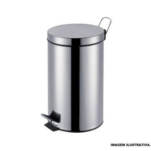 Lixeira Agata Inox com Pedal Mor 5 Litros 008222
