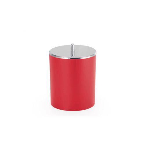 Lixeira Arthi 5 Litros com Tampa em Aço Inox Vermelha