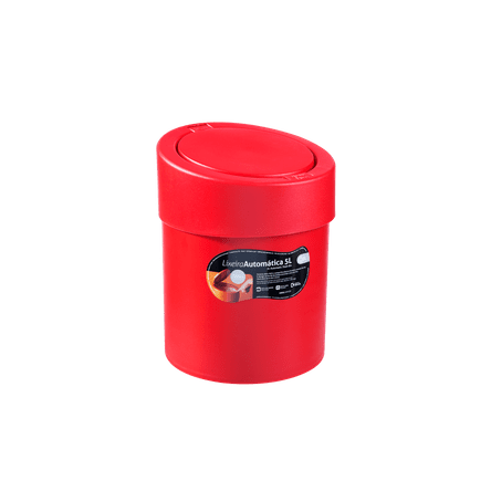Lixeira Automática 5 L 20 X 20 X 25,6 Cm Pimenta Coza