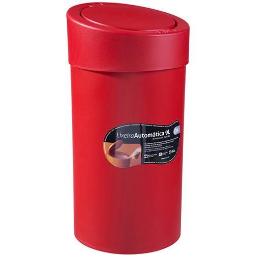 Lixeira Automática Compacta 9L Vermelha - Coza