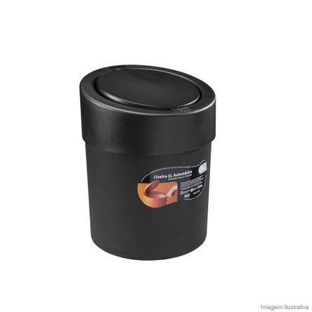 Lixeira Automática Preta 5 Litros Coza