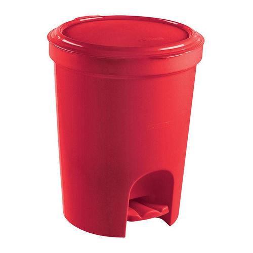 Lixeira C/ Pedal 13,5l Plástico Decorativa Vermelha