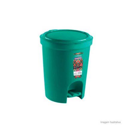 Lixeira com Pedal 13,5 Litros Verde Sanremo