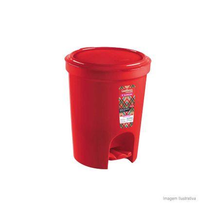 Lixeira com Pedal 13,5 Litros Vermelha Sanremo