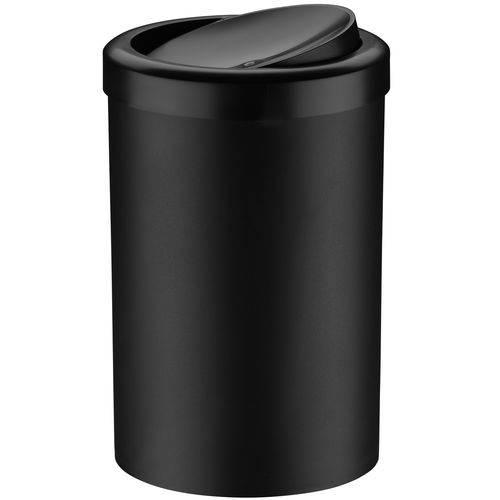 Lixeira com Tampa Basculante 8 Litros Plástico Banheiro Casa Preta