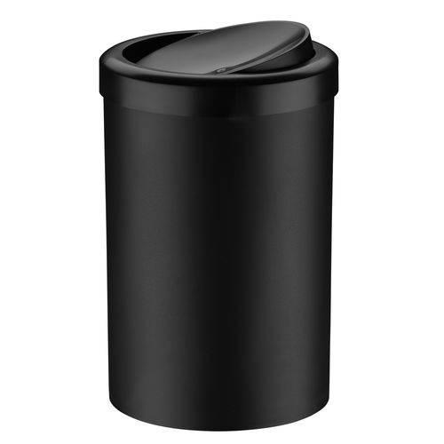 Lixeira com Tampa Basculante 8 Litros Preta Plastico Future Utilidades