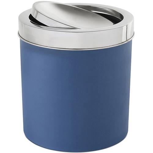 Lixeira com Tampa Basculante Inox 5,4L Azul - Brinox