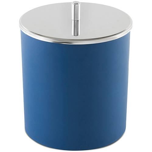 Lixeira com Tampa Inox 5,4 Litros Azul - Brinox