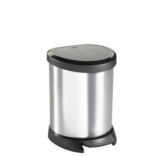 Lixeira Curver Metalizada Pedal Redondo 5L - 33008