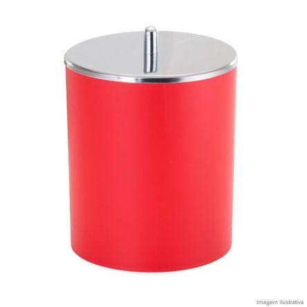 Lixeira de Inox 5 Litros com Tampa Vermelho Arthi