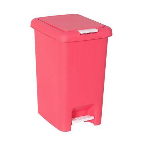 Lixeira de Pedal Dupla Abertura 10litros Rosa Astra