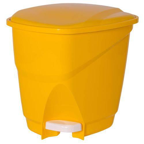 Lixeira Ecológica com Pedal 16l Astra Amarelo