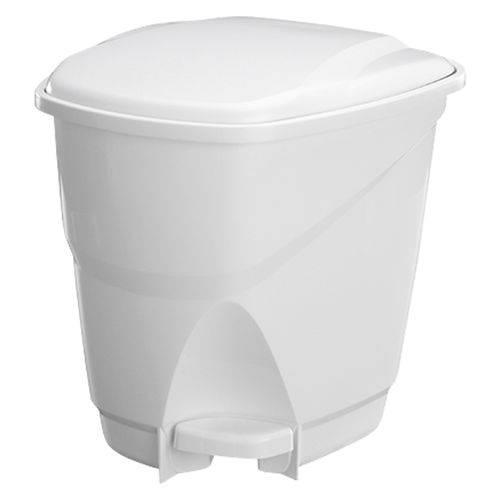 Lixeira Ecológica de Plástico com Pedal 31X31X34cm 16L Branca Astra LP1*BR1