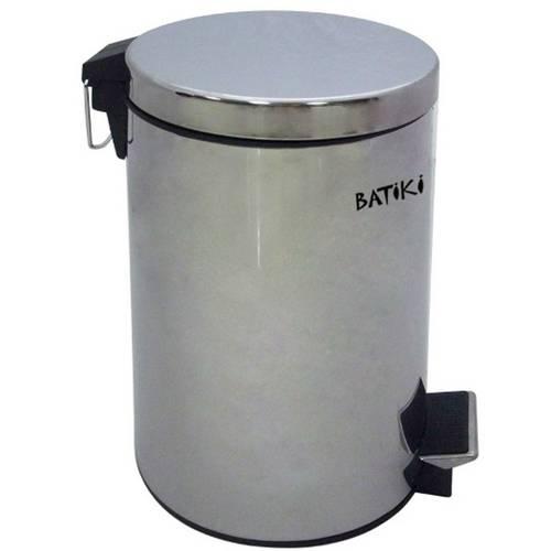 Lixeira em Aço Inox Polido 3 Litros com Pedal Batiki W180-Lb-601l