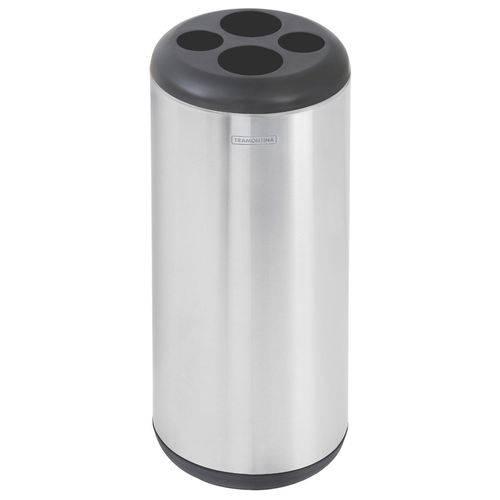 Lixeira em Aço Inox Porta Copos