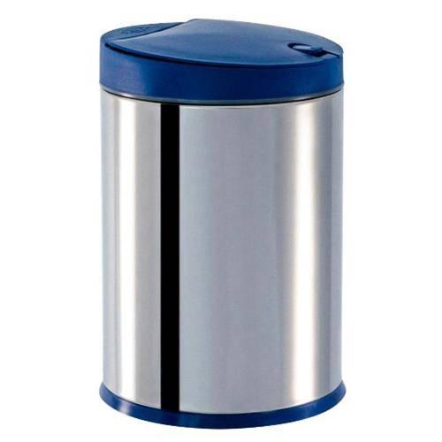 Lixeira em Inox com Tampa Press Azul 4 L - Brinox