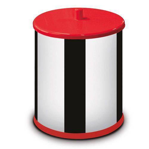 Lixeira Inox 3,2 Litros com Tampa Vermelho