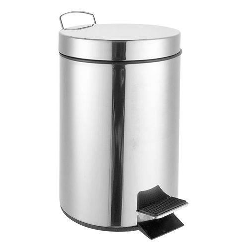 Lixeira Inox 5 Litros Banheiro Cozinha Escritório com Pedal