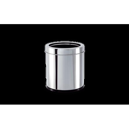 Lixeira Inox com Aro 3,2 Litros - Decorline Lixeiras Ø 15,5 X 17 Cm