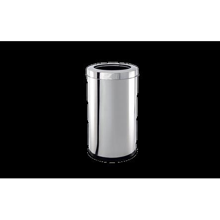 Lixeira Inox com Aro 5,4 Litros - Decorline Lixeiras Ø 18,5 X 20 Cm