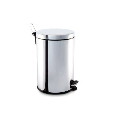 Lixeira Inox com Pedal e Balde 20 Litros 30 X 46 Cm - Brinox