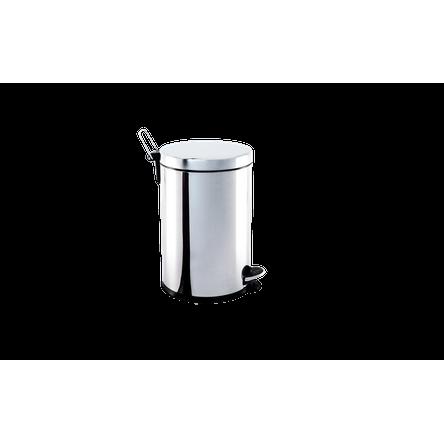 Lixeira Inox com Pedal e Balde 5 Litros - Decorline Lixeiras Ø 20 X 30 Cm - Brinox
