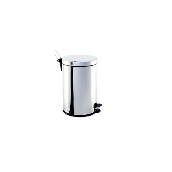Lixeira Inox com Pedal e Balde 5Lts 20X30Cm Brinox