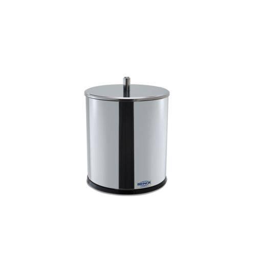 Lixeira Inox com Tampa 3,2 Litros - Decorline Lixeiras Ø 15,5 X 20 Cm