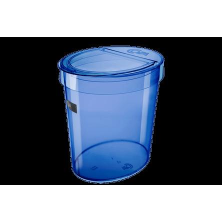 Lixeira Oval Glass 5 L 46 X 22,1 X 15 Cm Azul Coza