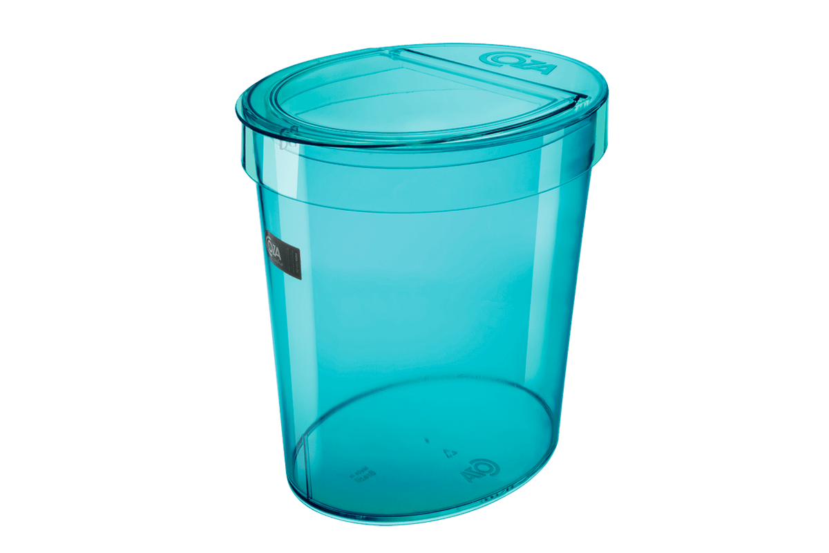 Lixeira Oval Glass 5 L 46 X 22,1 X 15 Cm Verde Coza