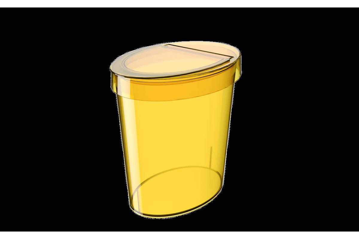 Lixeira Oval Glass 5 L 26,2 X 18,4 X 24,6 Cm Amarelo Coza