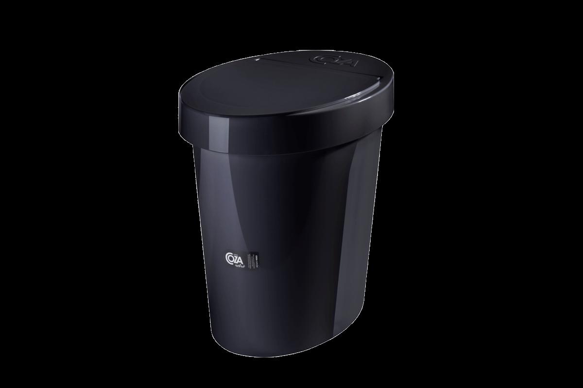 Lixeira Oval Glass 5 L 26,2 X 18,4 X 24,6 Cm Preto Coza