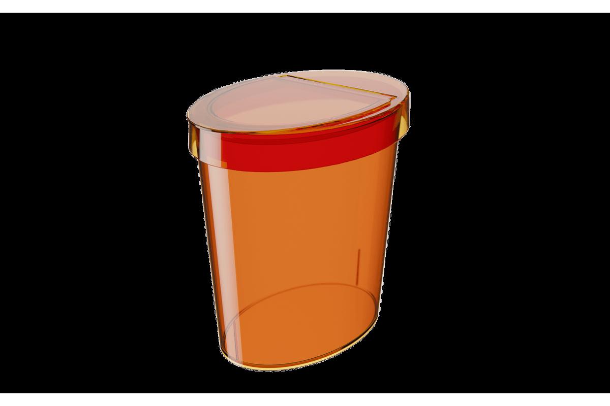 Lixeira Oval Glass 5 L 26,2 X 18,4 X 24,6 Cm Tangerina Coza