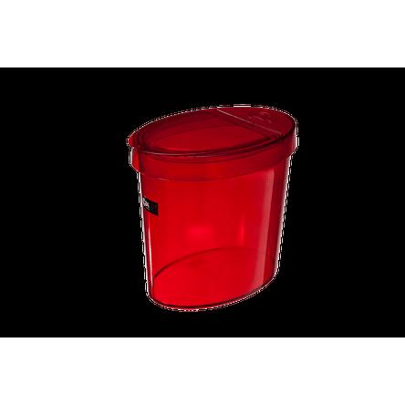 Lixeira Oval Glass 5 L 26,2 X 18,4 X 24,6 Cm Vermelho Transparente Coza