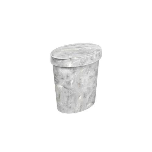 Lixeira Oval Glass 5 L 26,2 X 18,4 X 24,6 Cm