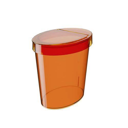 Lixeira Oval Glass 5 L Tangerina - Coza