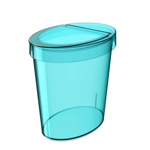 Lixeira Oval Glass 5 Litros Verde Coza