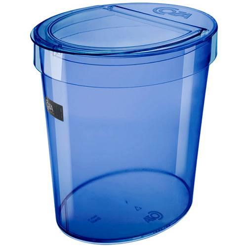 Lixeira Oval Retrô 5L Azul - Coza