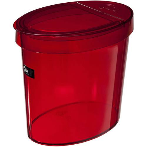 Lixeira Oval Retrô 5L Vermelha - Coza