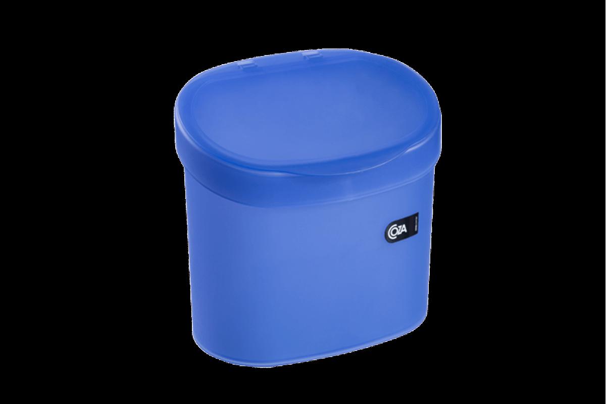 Lixeira para Pia 4 L Basic 22,8 X 15,6 X 22,4 Cm Azul Coza