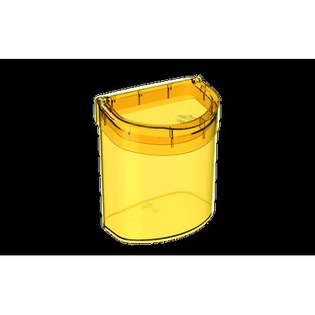 Lixeira para Pia 2,7 L Glass 20,3 X 14,6 X 21,3 Cm Amarelo Coza