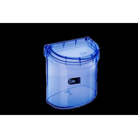 Lixeira para Pia 2,7 L Glass 20,3 X 14,6 X 21,3 Cm Azul Coza