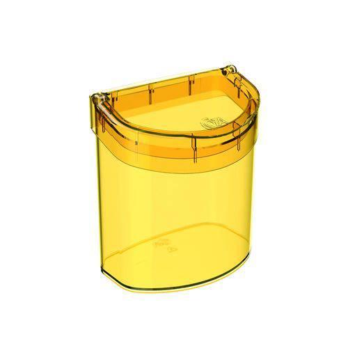 Lixeira para Pia 2,7 L Glass Amarela - Coza