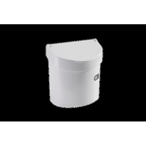Lixeira para Pia 2,7 L - Retrô 20,3 X 14,6 X 21,3 Cm Branco Coza