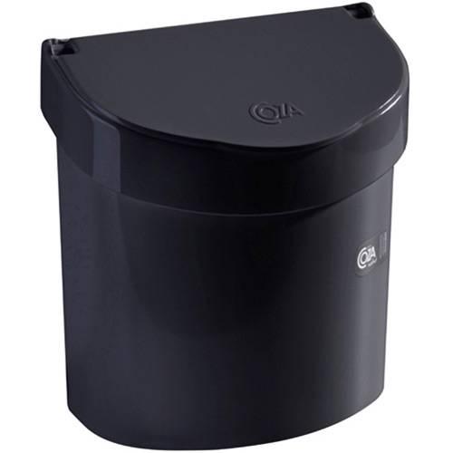 Lixeira para Pia Retrô 2,7L Preta - Brinox