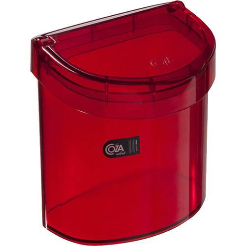 Lixeira para Pia Retrô 2,7L Vermelha Transparente - Brinox