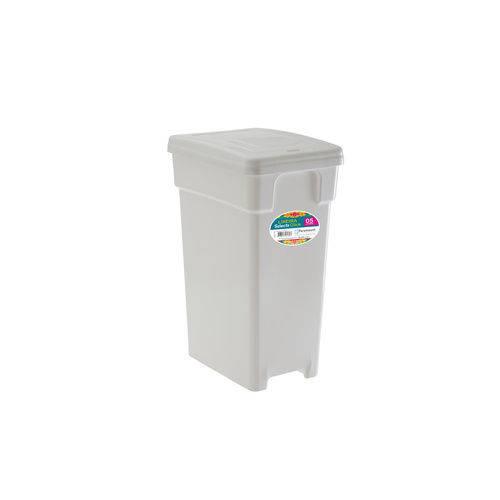 Lixeira Plástica com Tampa 5 Litros Branca - Selecta Click - Paramount