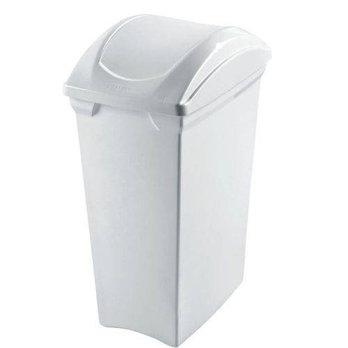 Lixeira Plástico 15l Basculante Branco Sanremo